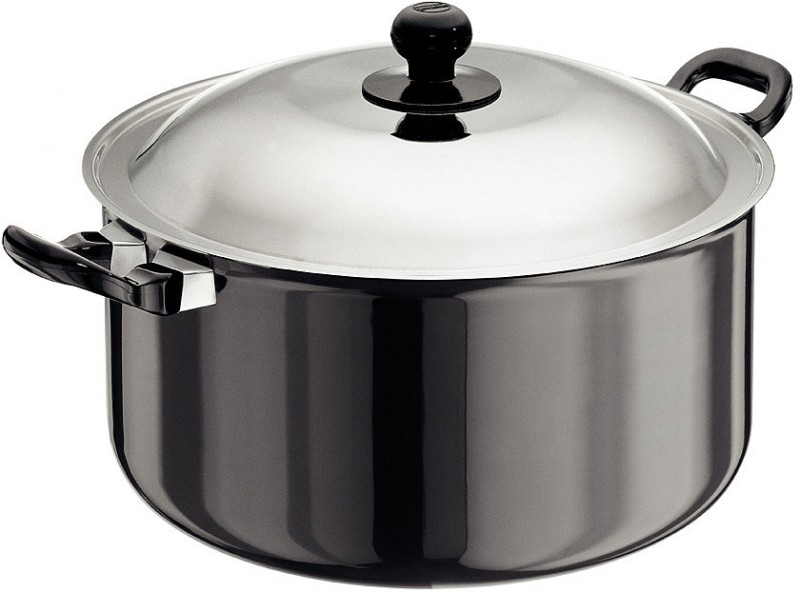 Hawkins Futura Hard Anodized Cook-n-Serve Pot 8.5 L with Lid(Hard Anodised, Non-stick)