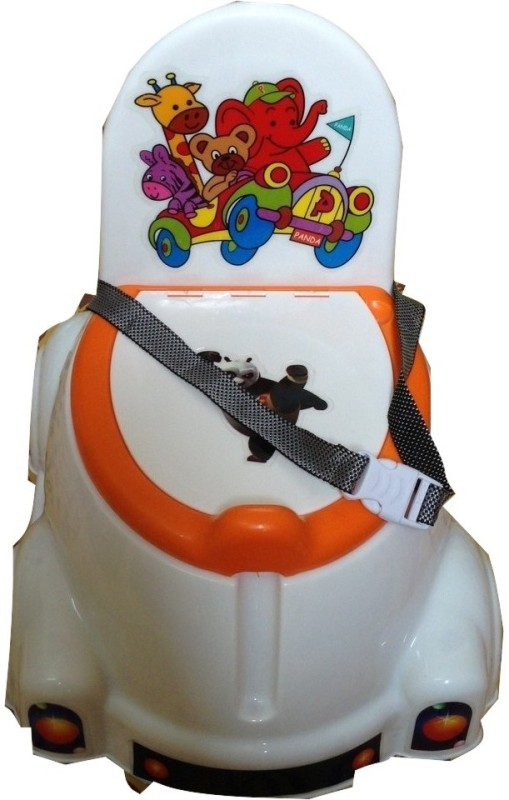Melonz Panda Potty Seat(White, Orange)