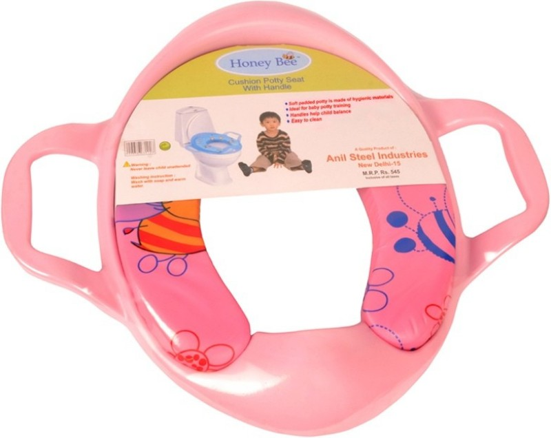 Honey bee Cushioned seat with Handle Potty Seat(Pink)