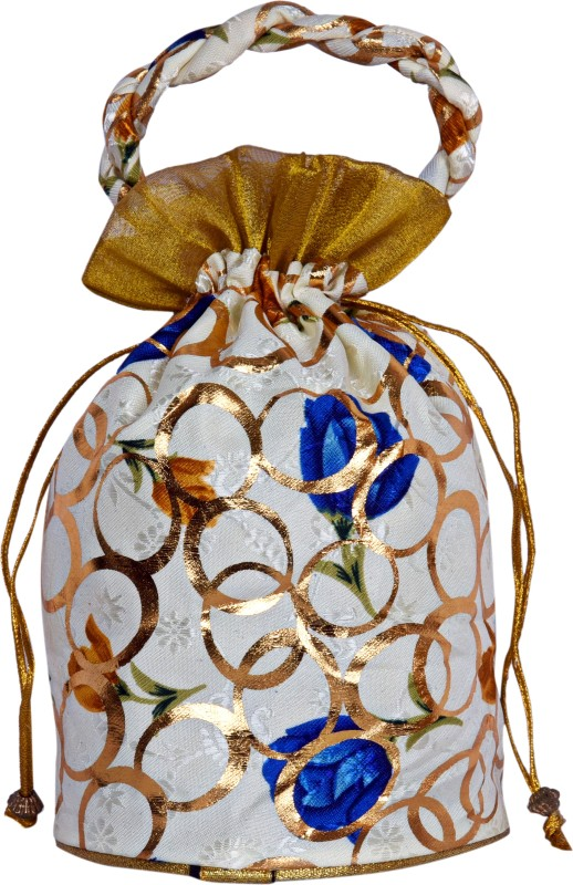 Decot Paradise Embroidery Design HandBag Potli(Multicolor)