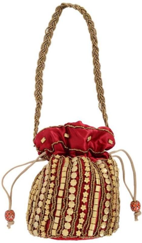 Goldeno RDC0104 Potli(Red)