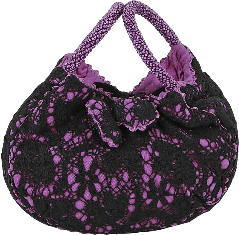 Miruna Designs Lace Bangle Potli(Purple, Black)