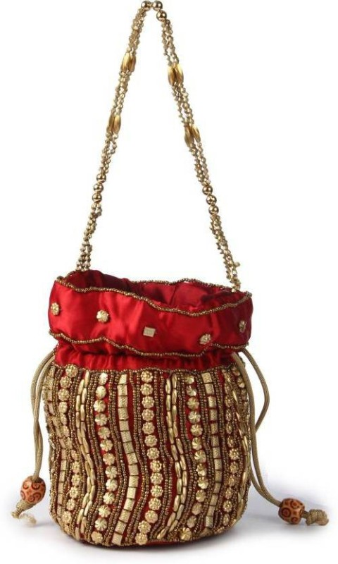 Ruhi's Creations Red Potli Pouch Potli(Red)
