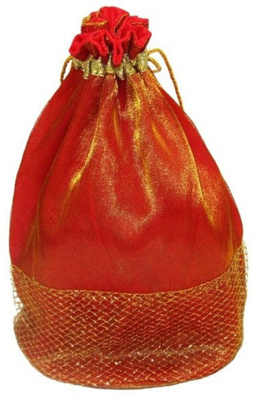 Wedding Pitara Fancy Shagun Gift Pack of 10 Potli(Gold, Orange)