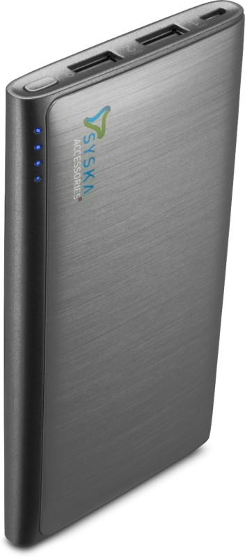 0034d35f65b Out Of Stock Syska Power Wallet 80- 8000 mAh Power Bank(Grey Lithium Polymer )