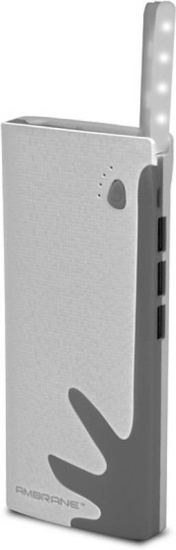 Ambrane P-1122 NA 10000 mAh Power Bank(White, Grey, Lithium-ion)