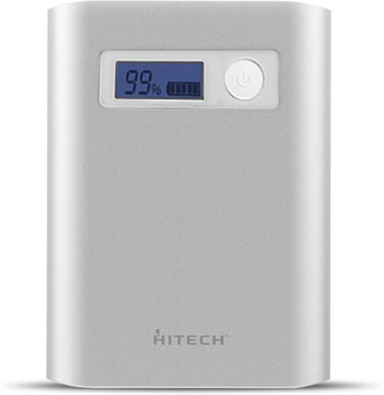 Hitech HI-PLUS H100 10400 mAh Power Bank(Silver Lithium-ion)