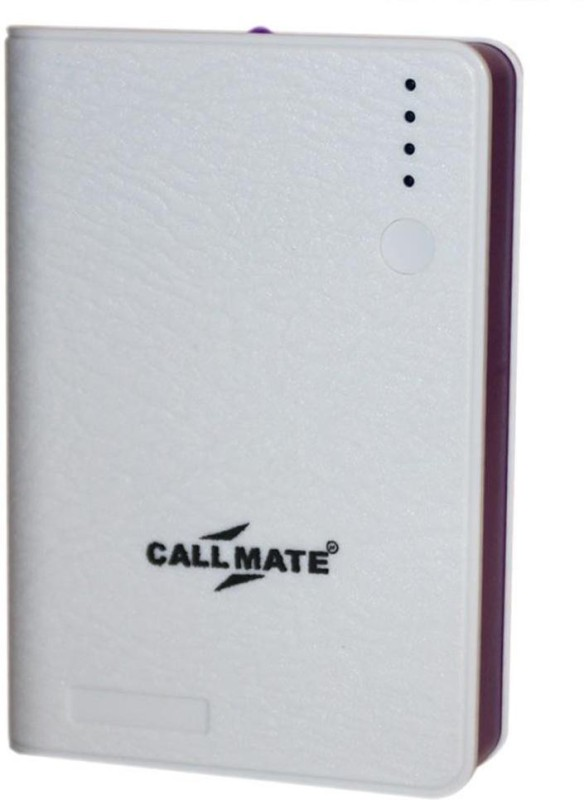 Callmate 02123 Leather Wallet 10400 mAh Power Bank(White, Lithium-ion)