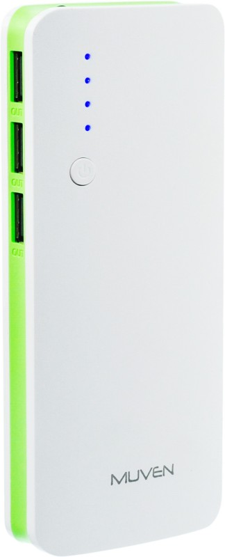 Muven C500 Portable Charger 10000 mAh Power Bank(Green, Lithium-ion)
