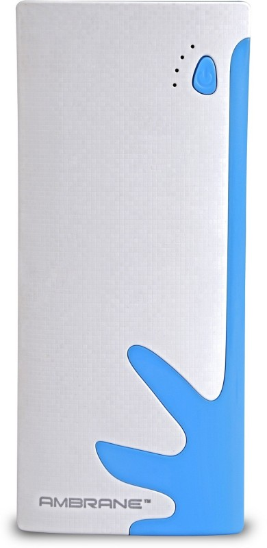 Ambrane P-1122 NA 10000 mAh Power Bank(White, Blue, Lithium-ion)