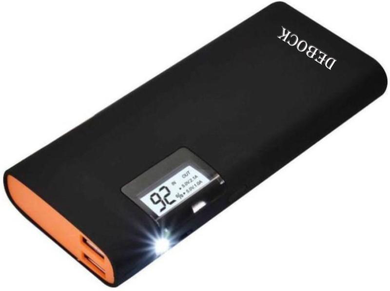 Debock Black Mirror Power Bank Digital 15000 mAh Power Bank(Black, Lithium-ion)