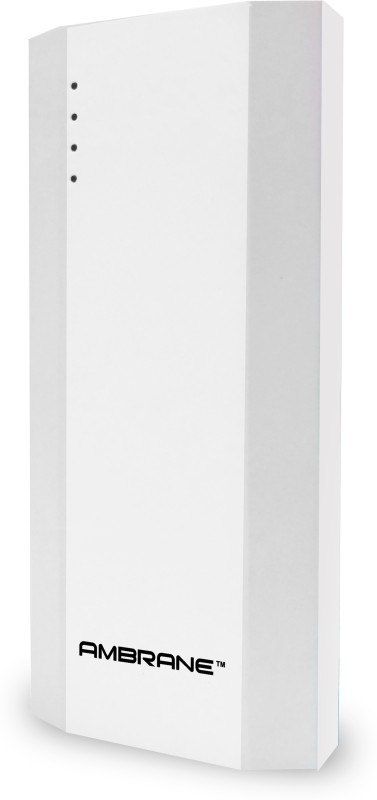 Ambrane 10000 mAh Power Bank (P-1111, NA)(White, Lithium-ion)