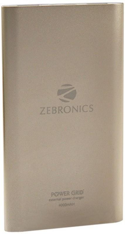 Buy Zebronics Power Bank Pg 40 4000 Mah Power Bank Gold Online Get