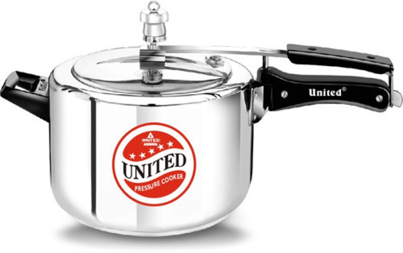 United 5 L Pressure Cooker with Induction Bottom(Aluminium)
