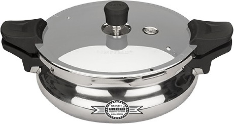 United 3 L Pressure Cooker with Induction Bottom(Aluminium)