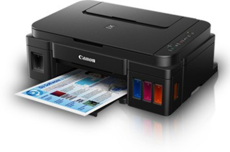 Canon Pixma Ink Tank G 3000 Multi-function Wireless Printer(Black, Refillable...