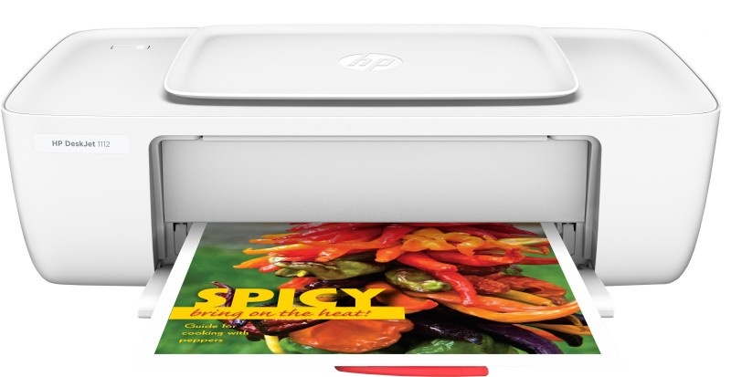 HP DeskJet 1112 Single Function Printer(White, Ink Cartridge)
