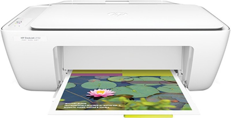 HP DeskJet 2132 All-in-One(F5S41D) Multi-function Printer(Ivory White, Ink Cartridge)