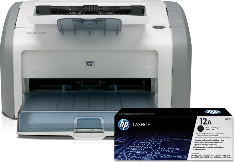 HP LaserJet 1020 Plus Single Function Monochrome Printer(White, Grey, Toner Cartridge)