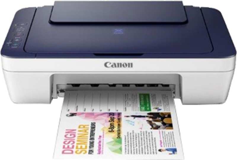 Canon PIXMA E417 Multi-function Printer(Blue and White, Ink Cartridge)
