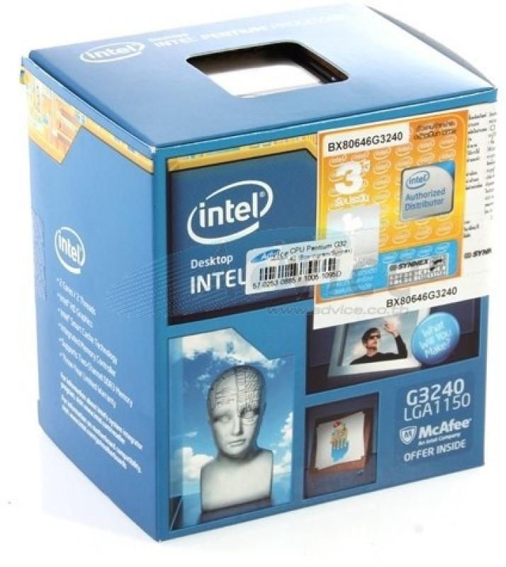 Intel 3.1 GHz LGA 1150 G3240 Processor(SILVER GREEN) image
