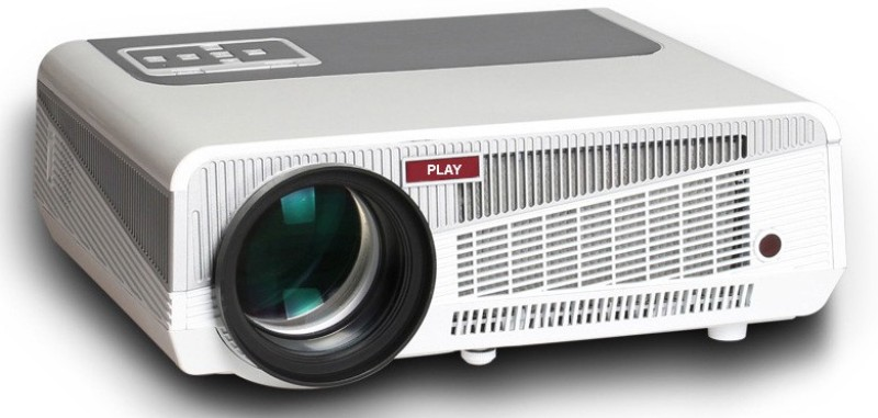 PLAY Full HD LED 5500 lm LED Corded Portable Projector(White, Grey) image