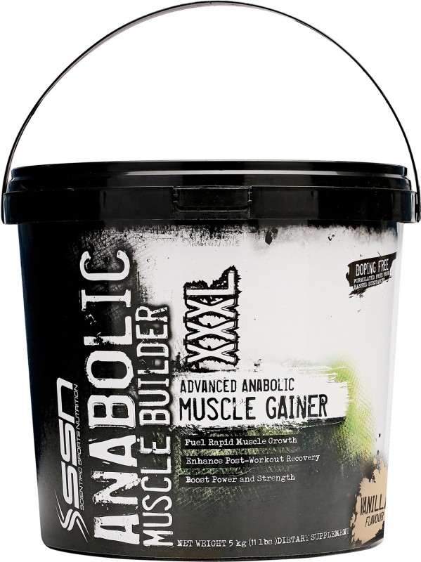 SSN Anabolic Muscle Builder XXXL Weight Gainers/Mass Gainers(5 kg, Vanilla)