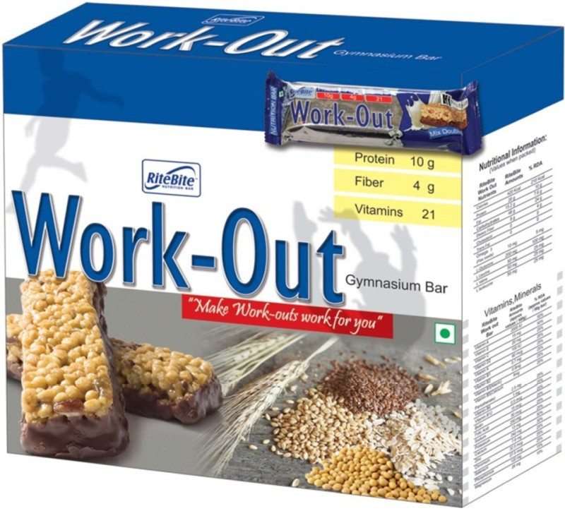 Ritebite Work Out Gynasium Bar Protein Bars(300 g, Chocolate)