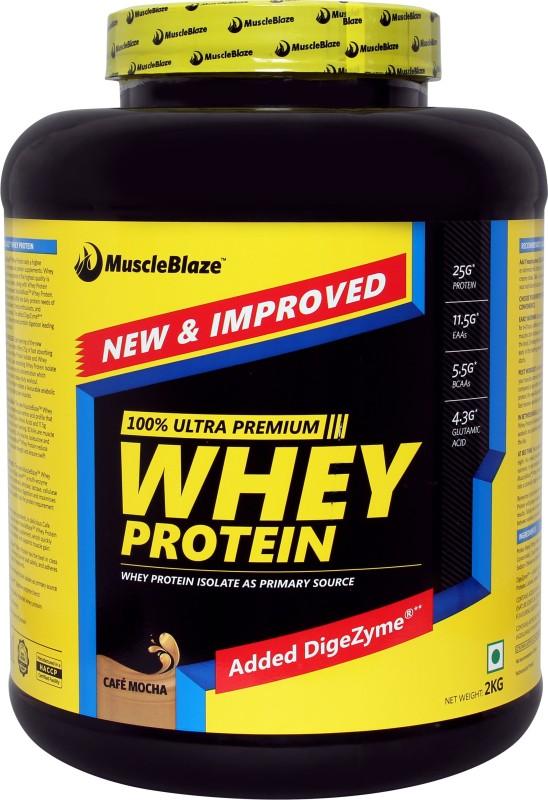 MuscleBlaze 100% Ultra Premium Whey Protein(2 kg, Cafe Mocha)