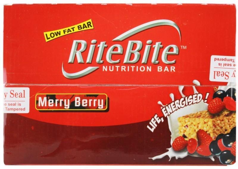 RiteBite Low Fat Protein Bars(840 g, Merry Berry)