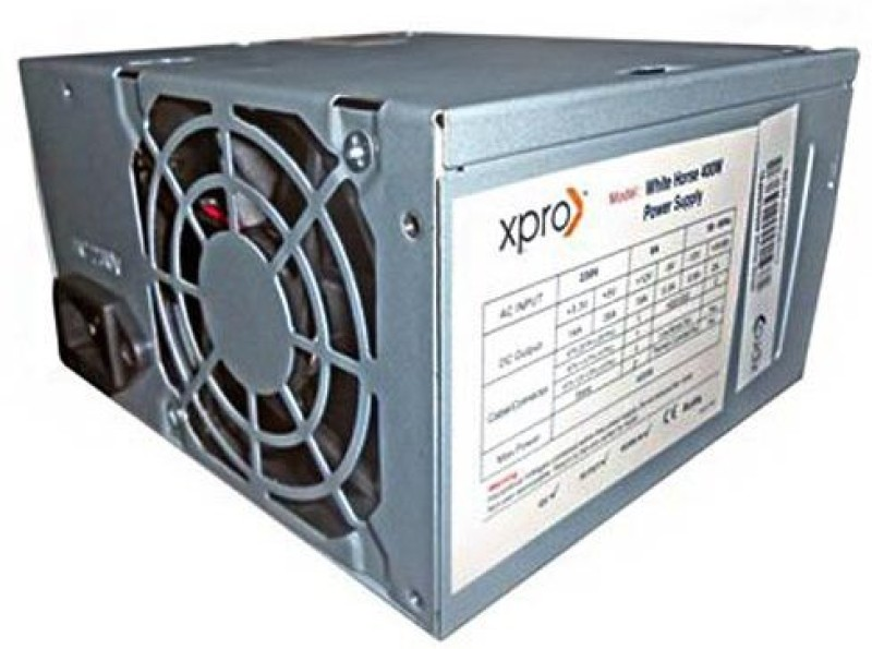 Xpro White Horse SMPS 400 Watts PSU(Silver)