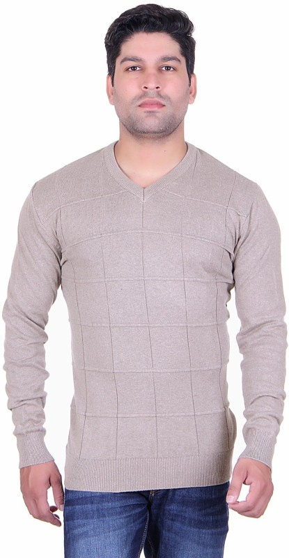 Update V-neck Striped Men's Pullover