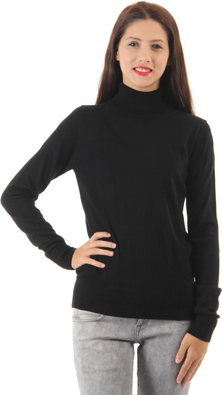 Pepe Jeans Turtle Neck Solid Women Pullover