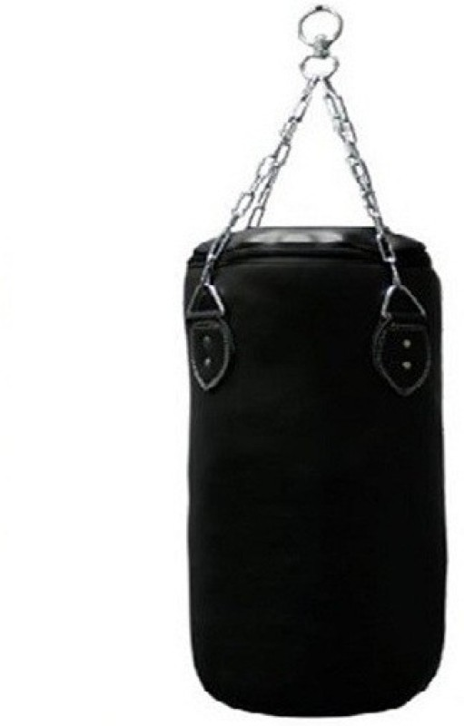 FACTO POWER 1.5 Feet Length BLACK Color Unfilled Synthetic Leather Hanging Bag(Heavy, 1 kg)