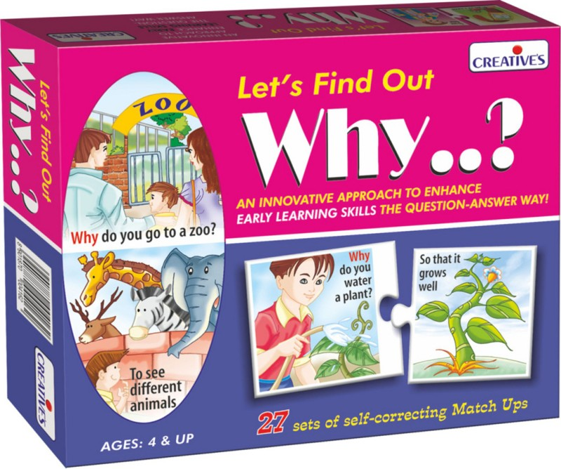 Creative Educational Aids Let's Find Out Why...?(54 Pieces)