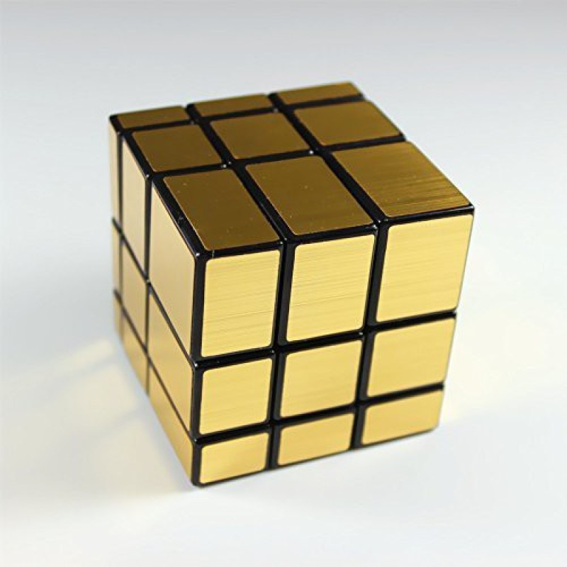 Goodplay Shengshou 3X3 Mirror Speed Cube Puzzle Golden(+One Customized Tripod)(1 Pieces)