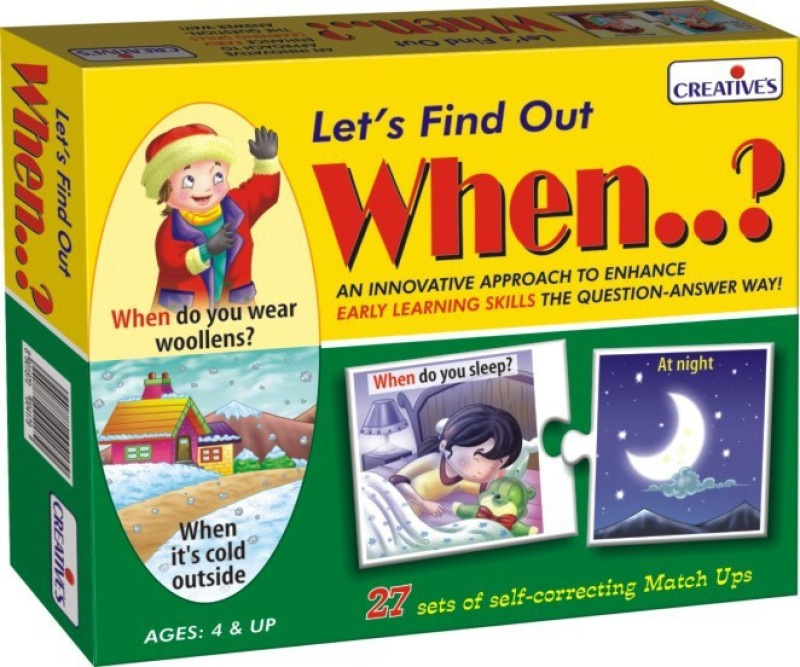 Creative Educational Aids Let's Find Out When... (54 Pieces)(54 Pieces)