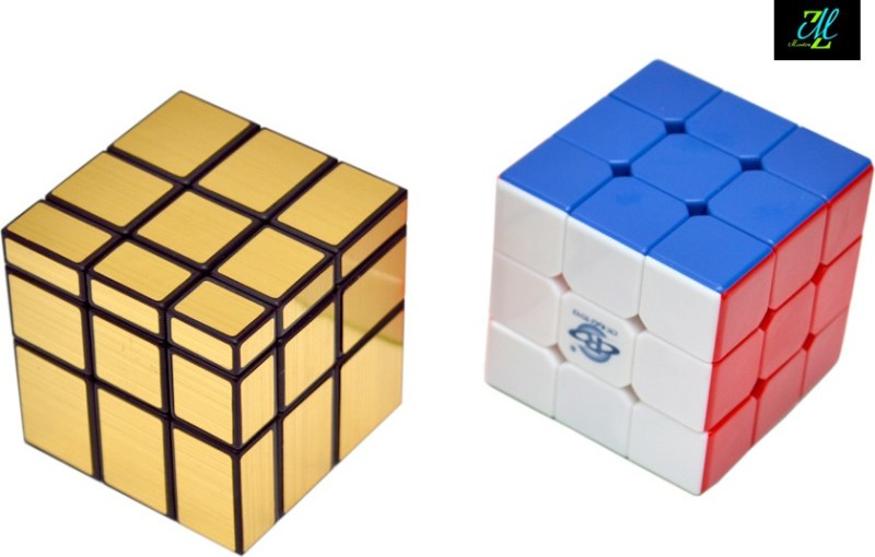 Montez Shengshou Golden Mirror Cube & Stickerless Cube Combo(2 Pieces)