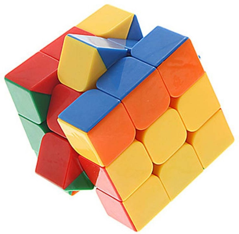 Montez Stickerless Magic Rubik Cube 3x3x3 High Speed(1 Pieces)