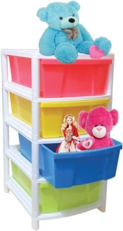 Joy Plastic Wall Shelf(Number of Shelves - 4, Multicolor)