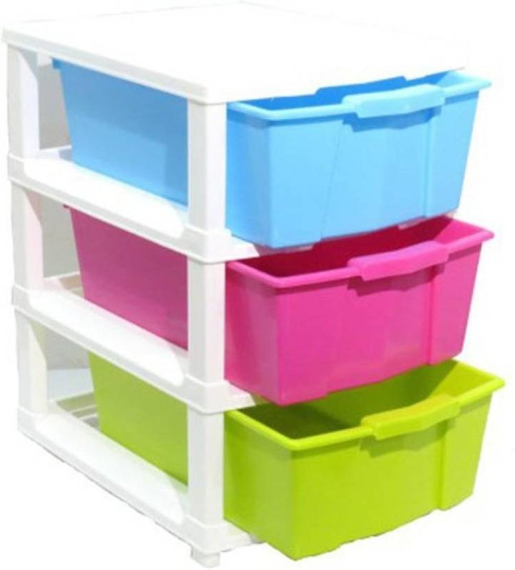 ROYALDEALSHOP Plastic Wall Shelf(Number of Shelves - 3, Multicolor)