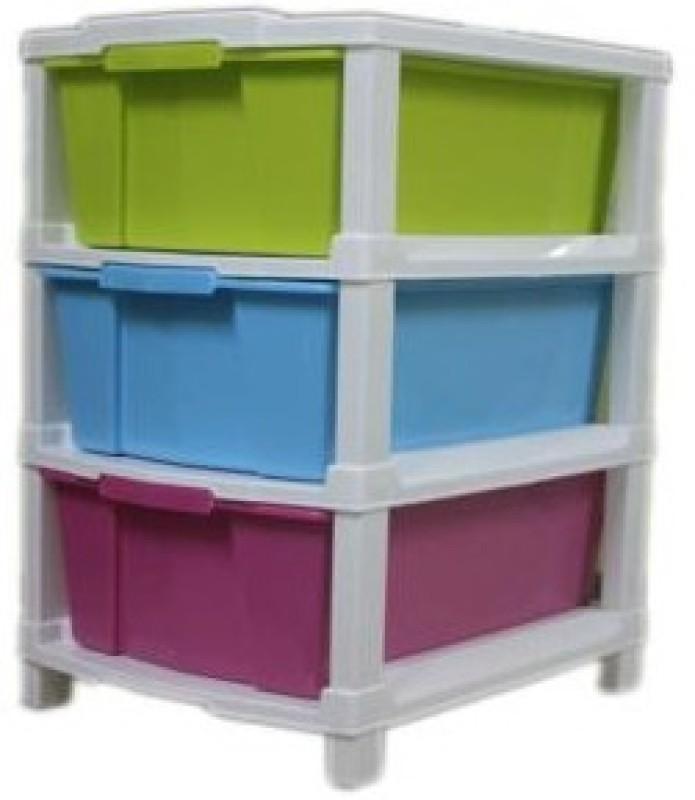 Joy Plastic Wall Shelf(Number of Shelves - 3, Multicolor)
