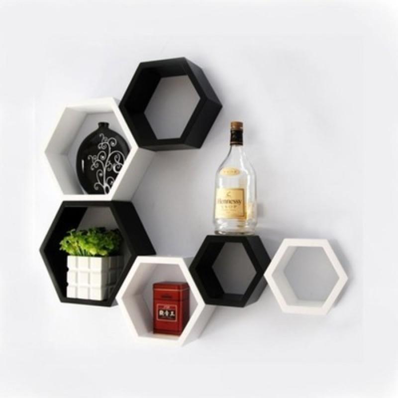 onlineshoppee-afr992-wooden-wall-shelfnumber-of-shelves-6-white-black