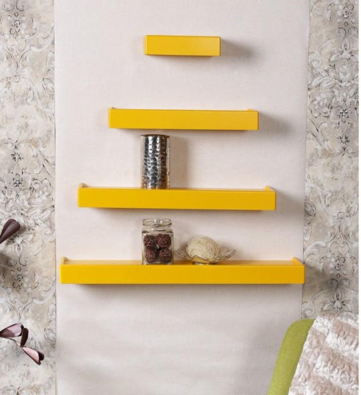 onlineshoppee-rectangular-wooden-wall-shelfnumber-of-shelves-4-yellow
