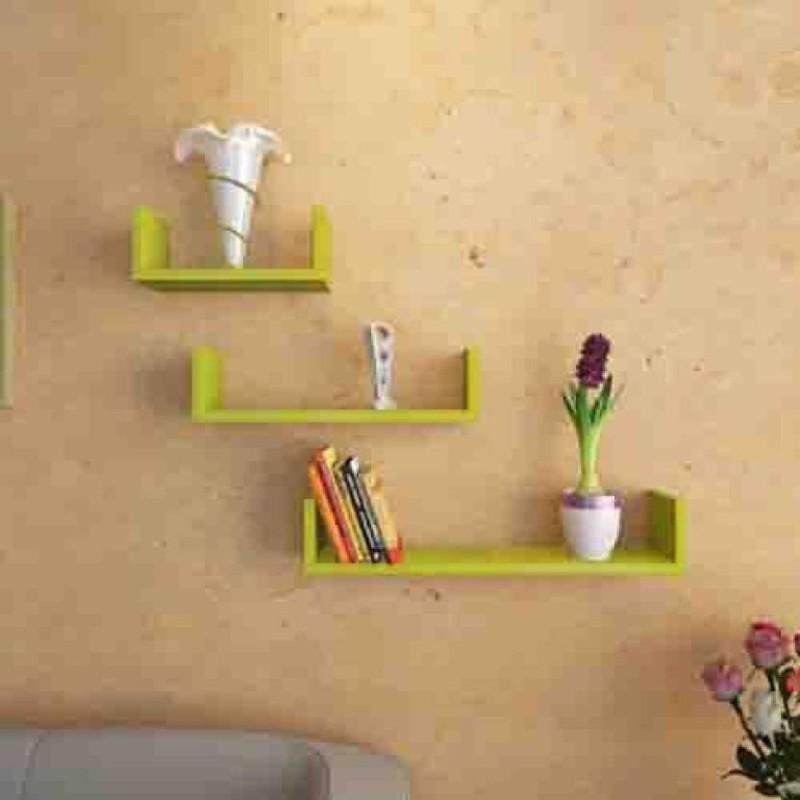 onlineshoppee-wooden-wall-shelfnumber-of-shelves-3-green