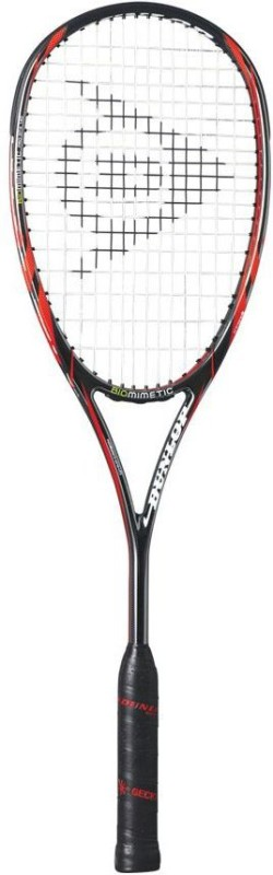 Dunlop Biomimetic PRO GT-X 140 HL Silver, Red, Grey Strung Squash Racquet(Standard, 135 g)