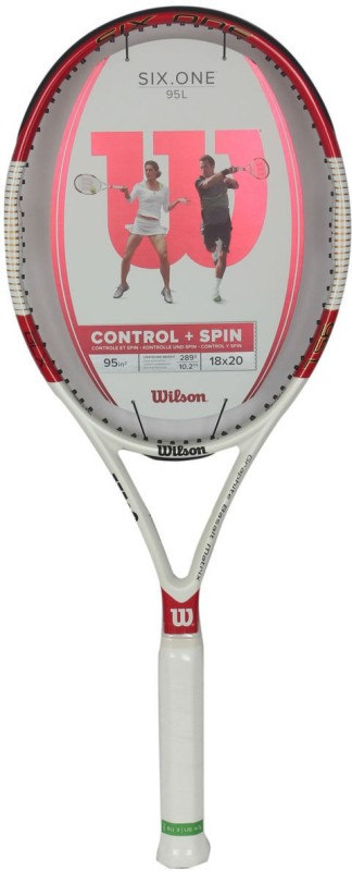 Wilson Six One 95 L Multicolor Strung Tennis Racquet(G3 - 4 3/8 Inches, 304 g)