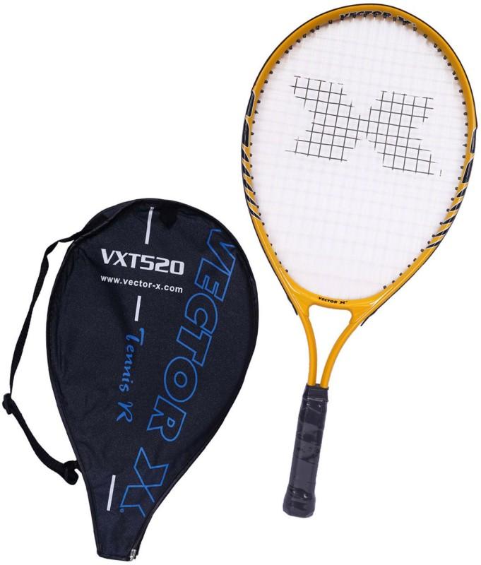 Vector X Vxt 520 23 inches Yellow, White Strung Tennis Racquet(G1 - 4 1/8 Inches, 213 g)