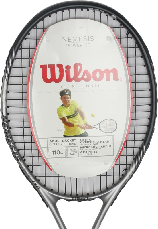 Wilson Nemesis Power 110 Strung Tennis Racquet(G3 - 4 3/8 Inches)