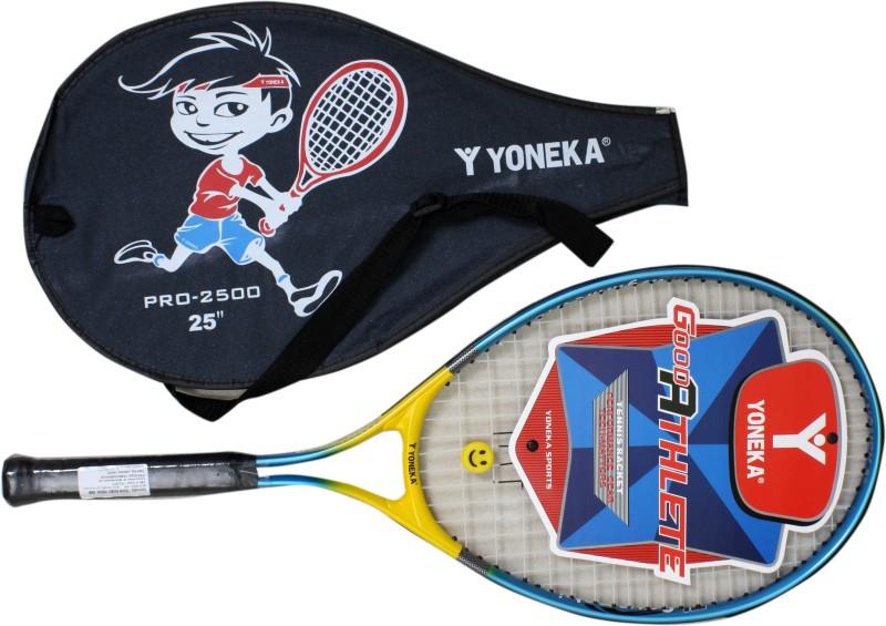 YONEKA 2500 Multicolor Strung Tennis Racquet(G3 - 4 3/8 Inches, 330 g)